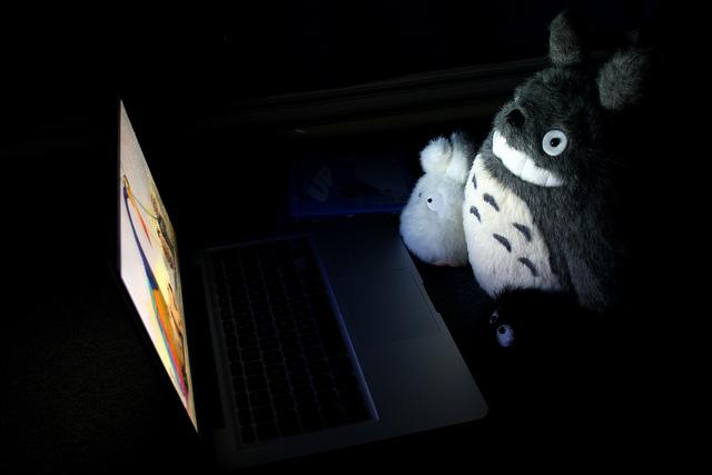 ジブリ-となりのトトロが映画を見てる