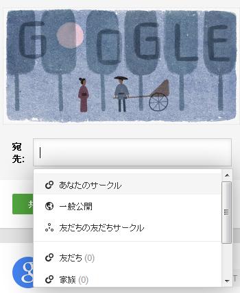 Google+でシェアをする際のアクティビティ