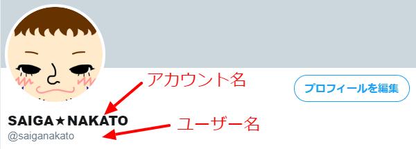 Twitterのアカウント名とユーザー名