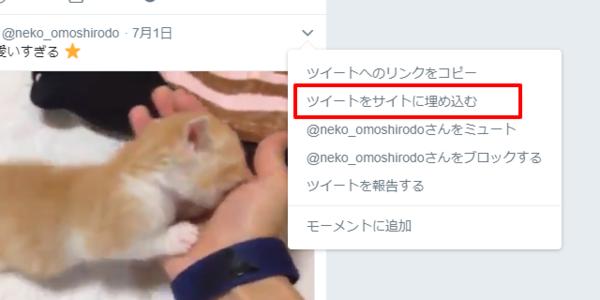 Twitter-画像・動画ツイートを埋め込む方法02