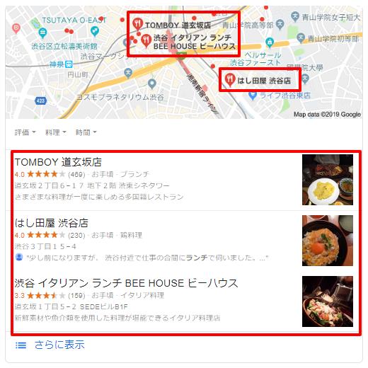 Google検索-PC-渋谷-ランチ